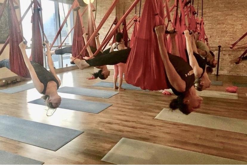 Dubai swing yoga